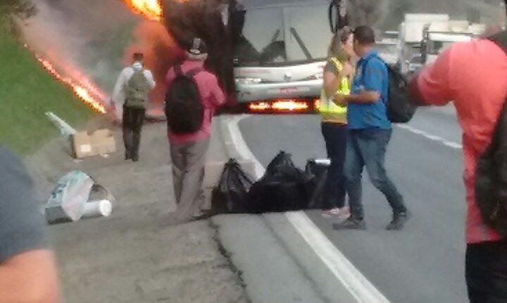 a7 incêndio ônibus
